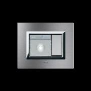 Serie ALLUMIA con placca Vera Alluminio naturale spazzolato - Lampada emergenza / Luce-amica
