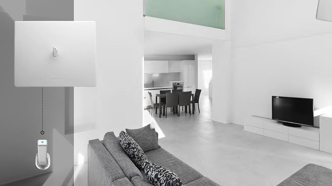 Interruttori a levetta minimal New Style 44 con placche in Corian®