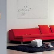Serie DOMUS con placca PERSONAL Arancione brillante - Punto luce