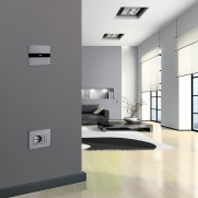Series ALLUMIA Touch – light point and ALLUMIA series with socket and plate Personal.