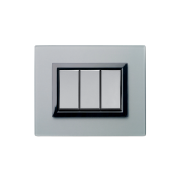 Serie ALLUMIA con placca Vera grigio argentato finitura satinata