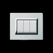 Serie DOMUS con placca Vera alluminio naturale spazzolato