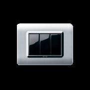 Serie LIFE con placca Tecnopolimero bianco RAL 9010
