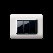 Serie LIFE con placca Tecnopolimero alluminio naturale