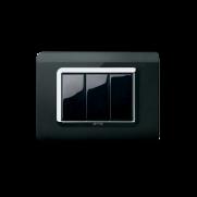 Serie LIFE con placca Tecnopolimero nero assoluto