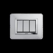 Serie ALLUMIA con placca Personal alluminio naturale