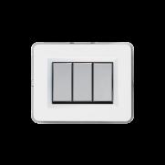 Serie ALLUMIA con placca Personal bianco lucido RAL 9010
