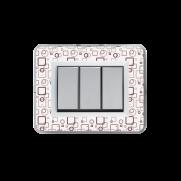 Serie ALLUMIA con placca Personal trasparente personalizzabile (da assemblare)