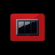 Serie LIFE con placca rosso Pompei lucido