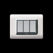 Serie ALLUMIA con placca Tecnopolimero bianco RAL 9010