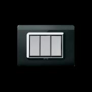 Serie ALLUMIA con placca Tecnopolimero nero assoluto