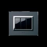 Serie LIFE con placca Vera alluminio antracite spazzolato