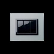 Serie LIFE con placca Vera grigio argentato finitura satinata