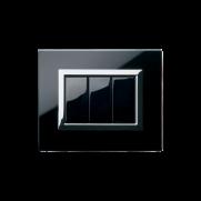 Serie LIFE con placca Vera nero assoluto finitura lucida