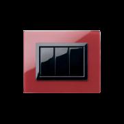 Serie LIFE con placca Vera rosso Pompei finitura lucida