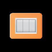 Serie DOMUS con placca Personal arancione brillante