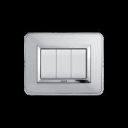 Serie DOMUS con placca Personal alluminio naturale