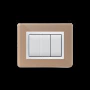 Serie DOMUS con placca Personal beige lucido