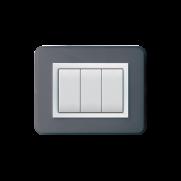 Serie DOMUS con placca Personal grigio scuro lucido