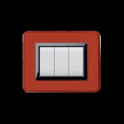 Serie DOMUS con placca Personal rosso Pompei lucido