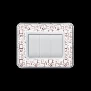 Serie DOMUS con placca Personal trasparente personalizzabile (da assemblare)