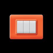 Serie DOMUS con placca Tecnopolimero arancione opalino