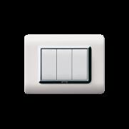 Serie DOMUS con placca Tecnopolimero bianco RAL 9010