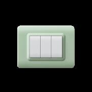 Serie DOMUS con placca Tecnopolimero giada opalino