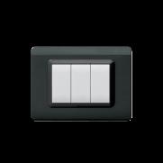 Serie DOMUS con placca Tecnopolimero grigio scuro lucido