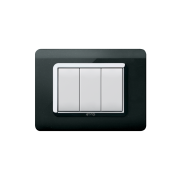 Serie DOMUS con placca Tecnopolimero nero assoluto