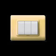Serie DOMUS con placca Tecnopolimero ottone lucido