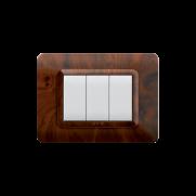Serie DOMUS con placca Tecnopolimero radica opaca