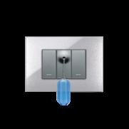 Serie-ALLUMIA-con-placca-Young-Grigio-Metallizzato---Campanello-tirante-bagno