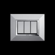 Serie ALLUMIA con placca Zama alluminio naturale