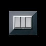 Serie ALLUMIA con placca Zama grigio scuro metallizzato