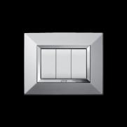 Serie DOMUS con placca Zama alluminio naturale