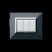 Serie DOMUS con placca Zama grigio scuro metallizzato