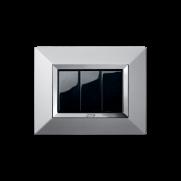 Serie LIFE con placca Zama alluminio naturale