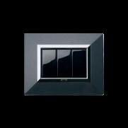 Serie LIFE con placca Zama grigio scuro metallizzato