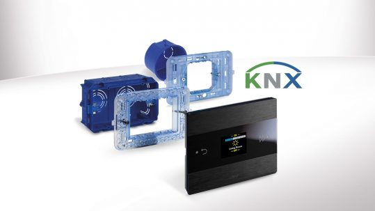 AVE Room Controller KNX: high-tech design for home and hotel