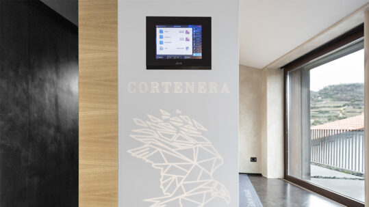 Ave Touch switches and home automation for the Cortenera Winery