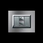 Serie ALLUMIA con placca Vera Alluminio naturale spazzolato - Rilevatore