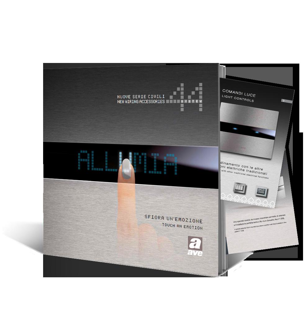 Catalogo lancio e presentazione nuova serie civile ALLUMIA – 2012